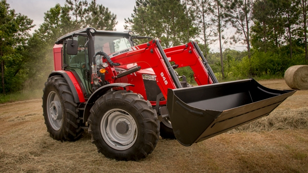 Massey Ferguson 8760 S tractor with front loader